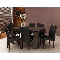 Conjunto De Jantar Mesa Mj2105 + 6 Cadeiras Ca2702 Ammo Mobi