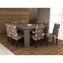 Jogo De Mesa Com 8 Cadeira Para Sala De Jantar Ammo