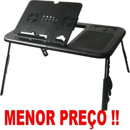 Mesa Notebook Ergonômica Cooler Hub E-table Ld09 Black Preta