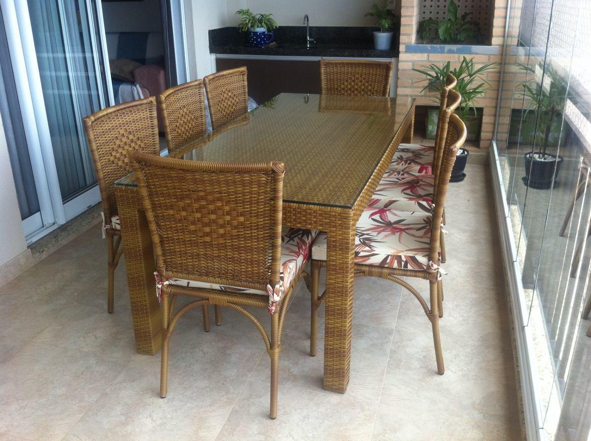 Mesa Olanda Com 8 Cadeiras Em Aluminio Com Fibra Sintetica R$ 3.160  #63482C 1200x896