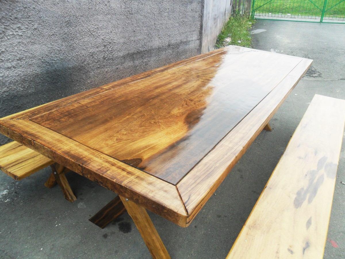 mesa rústica de imbúia #9C782F 1200x900
