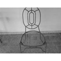 Cadeira Em Ferro Maciço Na Cor Preta Ou Dourada
