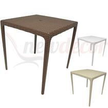 Mesa De Cozinha Em Pp Ratan - Cadeiras/mesas/lazer/externo