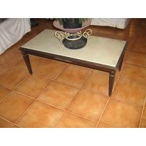 Mesa De Centro De Sala Rico Em Detalhes C/ Tampo De Granito.
