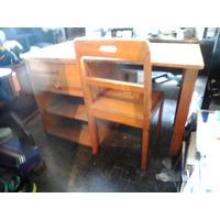 Escrivania De Madeira Pura Antiga Anos 70