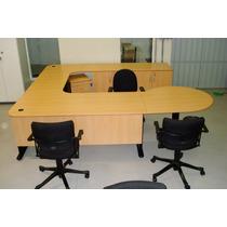 Mesa Escritorio Forma Armários 6 Cadeiras Giroflex
