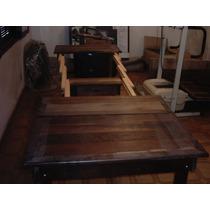 Mesa Elástica Rústica De Madeira Em Imbuia