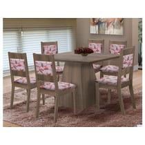 Mesa Com 6 Cadeiras Orquídea - Mk Decor