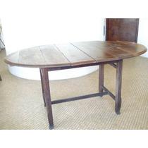 Mesa De Jantar Antiga Estilo Imperio - Maciça Formato Oval