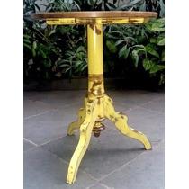 Mesa Lateral Rústica - Amarelo Canário