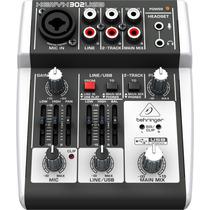 Mesa De Som Behringer 302usb Mixer Xenyx 302 Usb : Original