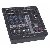 Mesa De Som Mixer Starmix Fx Efeito Usfx 402 Usb Frete G 12x