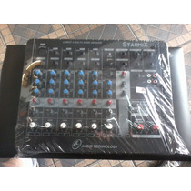 Mesa De Som Ll Star Mix 6 Canais C/ Usb E Delay - Stillussom