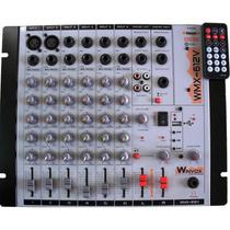 Mesa De Som - Winvox - 6 Canais - 110/220/12v - Com Efeito-