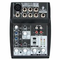 Mesa De Som Behringer Xenyx 502 Mixer Analogico