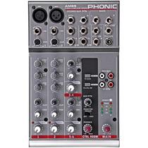 Mesa De Som Com 6 Canais Phonic Am 85 Mixer Profissional