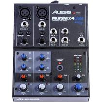 Alesis Multimix 4 Usb - Mesa E Placa De Gravação - M Track