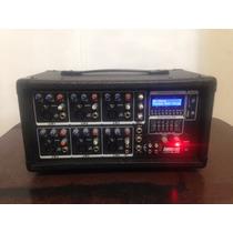 Mesa De Som Amplificada Lexsen Lpm-6usb Cabeçote