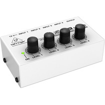Mixer De Linha 4 Canais Compacto Behringer Micromix Mx400