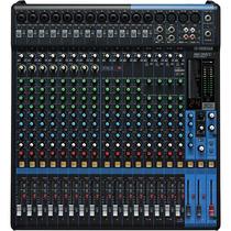 Mesa De Som Yamaha Mg20 Xu Usb 20 Canais Mixer Com Efeitos