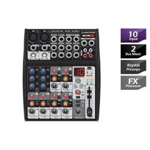 Mesa De Som Mixer Dj Krystal Pod 10.2fx 10 Canais Waldman