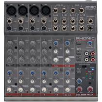Mesa Som Com Efeito 12 Canais Phonic Am125 Fx Mixer