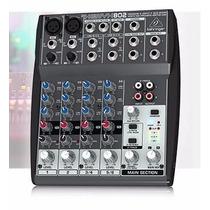 Mesa De Som Behringer Xenyx 802 Mixer P Entrega Novo Origina