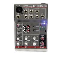 Mesa De Som Compacta Am 55 Phonic 5 Canais