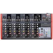 Mesa De Som Usb Com Efeito 1202fx Novik 12 Canais Nvk Mixer