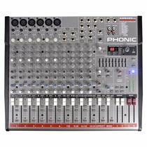 Mesa De Som Phonic Am642d Usb 14 Canais C/ Efeito-compressor