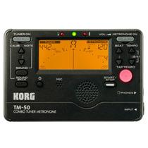 Korg Tm-50 Bk - Metrônomo Afinador Digital Compacto