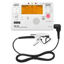 Korg Tm-50c Pw - Metrônomo Afinador Digital Com Microfone
