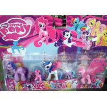 Kit My Little Pony Com 5 Bonecos - My Litle Poney Miniatura