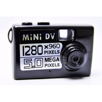 Mini Filmadora Detetive Hd Camera Dv Espiã 5.0 Mp Microfone