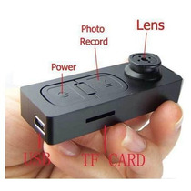 Botão Espião Câmera Filmadora Com Aúdio Foto