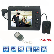 Botao Camera Filmadora Digita Espia Tela Lcd 2.5 Mini Dvr