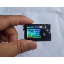 Mini Câmera E Filmadora Espiã 5.0 Mp Detecção Movimento 8gb