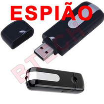 Pendrive Usb Espião Spy Hd Gravador Som Camera Led Micro Sd