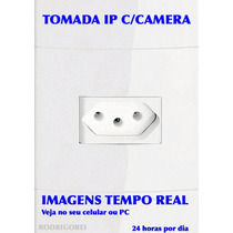 Tomada Ip Com Camera Em Tempo Real Espionagem