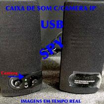 Caixa De Som Usb Com Camera Ip Em Tempo Real Espionagem