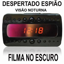Relogio Despertador Camera Ip Visao Noturna Espionagem +16gb