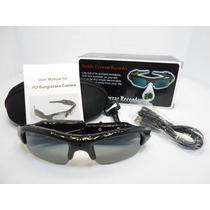Óculos De Sol Espião C/ Camera Espiã Hd 720p Filma Tira Foto