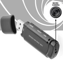 Mini Camera Camuflada Pendrive Espiã Video + Audio + De 4hrs