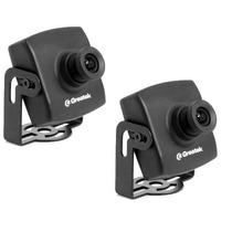 02 Uni Kit Mini Camera Greatek Digital 480 Linhas Real 3,6mm