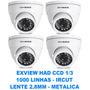 Kit 4 Camera Infra Ccd Sony 1/3 1000 Tvl Ircut Lente 2,8 Mm
