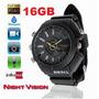Relógio Espião Em Full Hd 16gb, Visão Noturna, 5.0 Megapixel