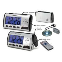 Relógio Despertador Espião Com Câmera Espiã Secreta Controle