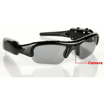 Óculos De Sol Espião Filmadora Micro Câmera Spy Secreto