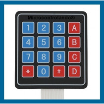 Teclado 4x4 Matricial Alfanumérico 16 Tecla Menbrana Arduino