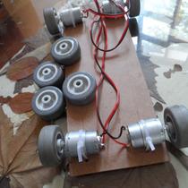 Kit 4 Rodas Robô+2 Motores 20 Watts+ Torque Arduino Robótica